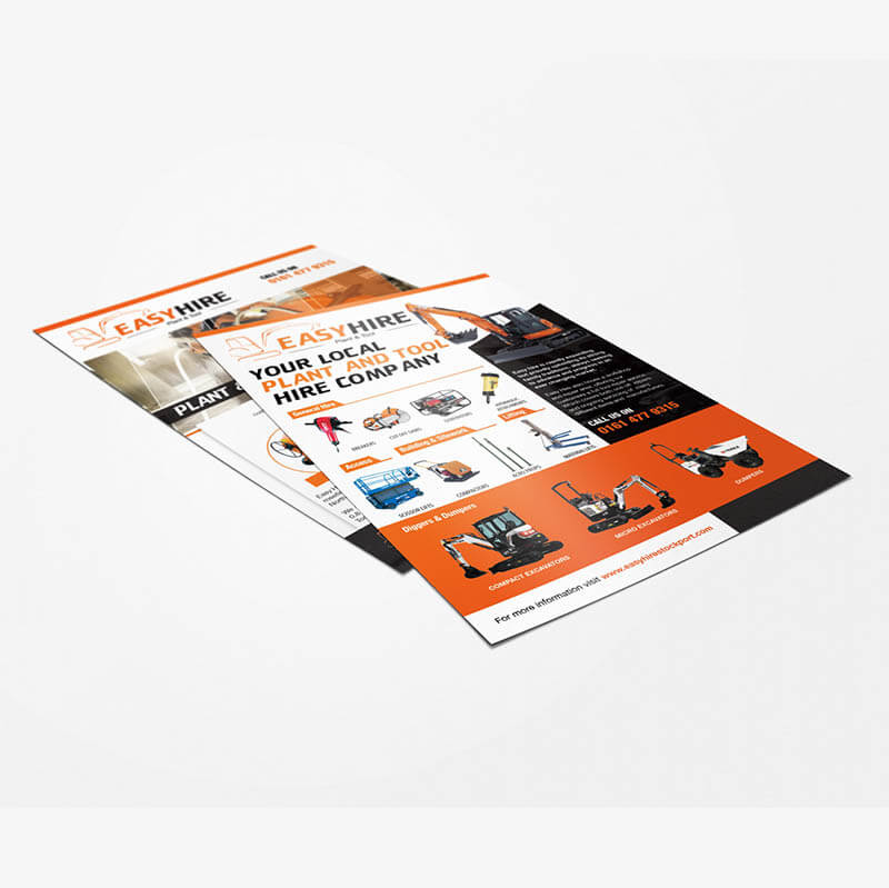 Easy Hire flyers stockport