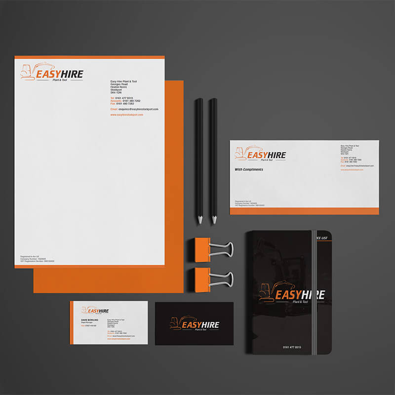 Easy-Hire-business-stationary-design